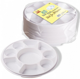 9 division disposable part plates pack of 50