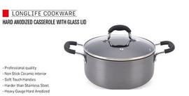 Non stick hard anodized casserole 26cm