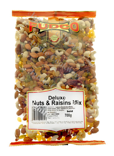 Deluxe Nuts and Raisins Mix- Fudco