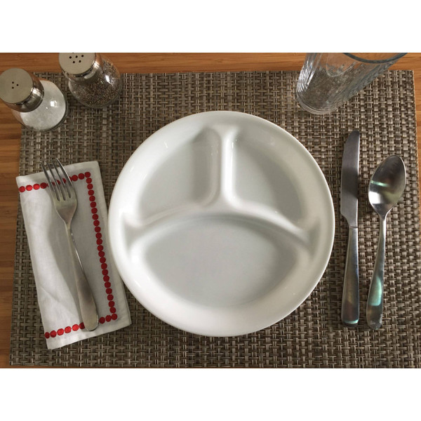 Corelle Winter Frost White Divided Plate 26cm