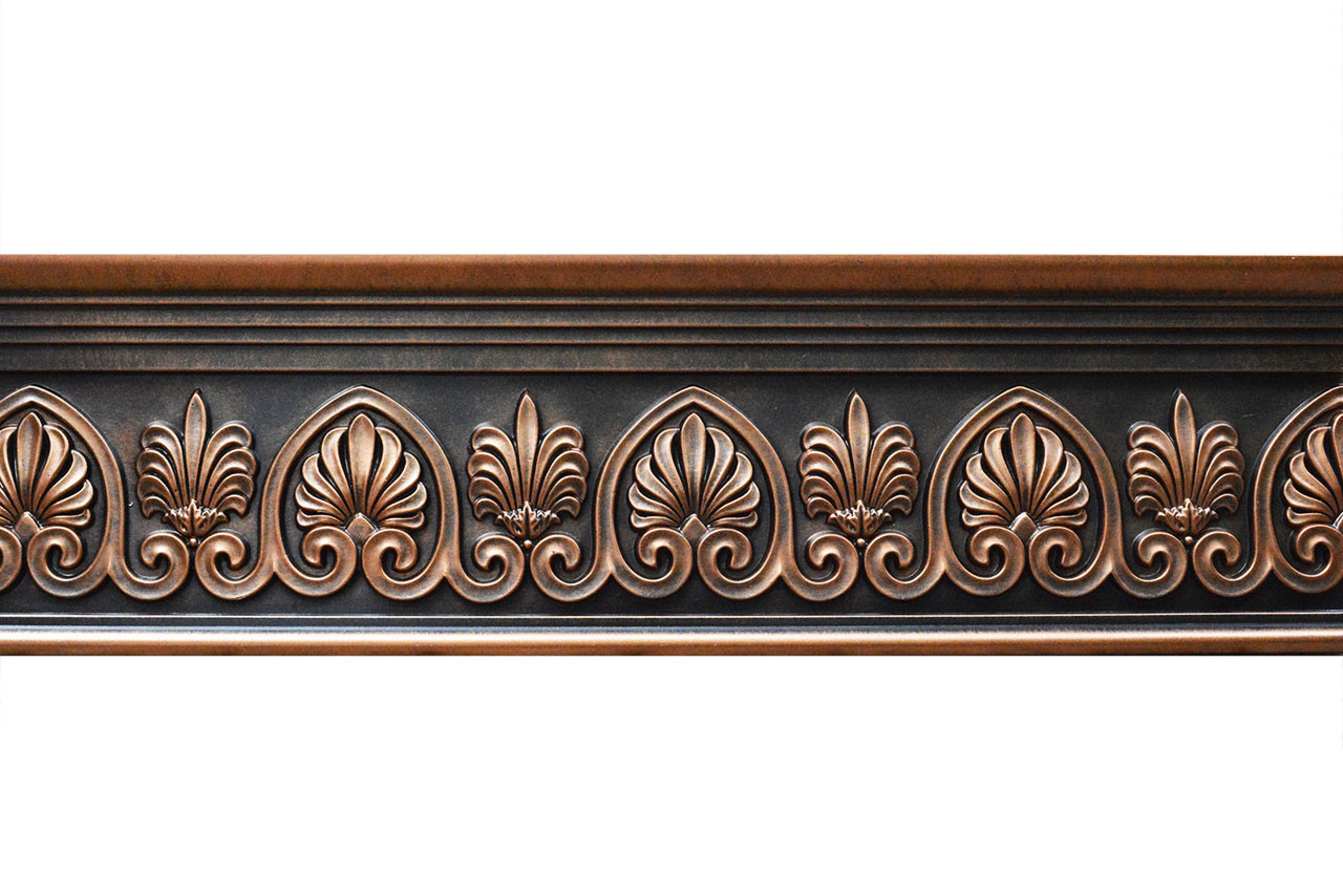 Scrollwork Fad Hand Painted Flat Molding For Panel Chair Rail Casings 96 In X 7 3