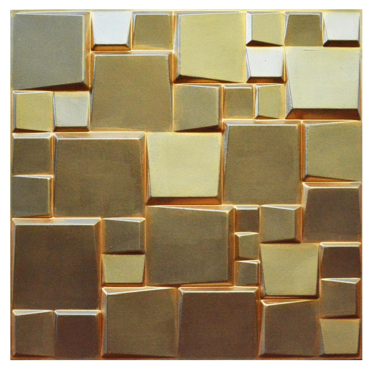 3D Wall Panels - Hand Painted Bamboo Pulp - (Pack of 24 - 64 sq  ft ) -  #WPF-005