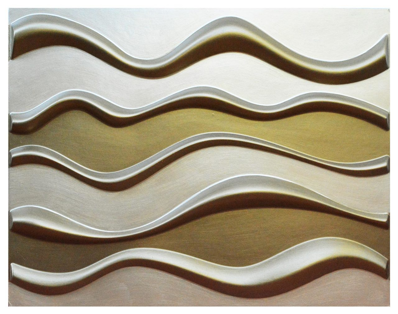 3D Wall Panels - Hand Painted Bamboo Pulp - (Pack of 12 - 64 sq  ft ) -  #WPF-001
