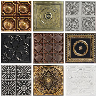 3 Full Faux Tin Tiles - In Stock Samples - Free Shipping