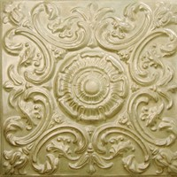 2414 Aluminum Ceiling Tile in Chardonnay  finish is available at www.decorativeceilingtiles.net
