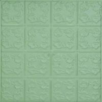 0608 Aluminum Ceiling Tile in Lemon Grass finish is available at www.decorativeceilingtiles.net