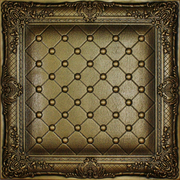 Juliet - Faux Leather Tile - Antique Gold