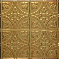 1204 Aluminum Ceiling Tile in Antiqued Spice and many other finishes is availabel at www.decorativeceilingtiles.net