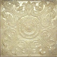 2414 Aluminum Ceiling Tile in Crackled Ivory finish is available at www.decorativeceilingtiles.net