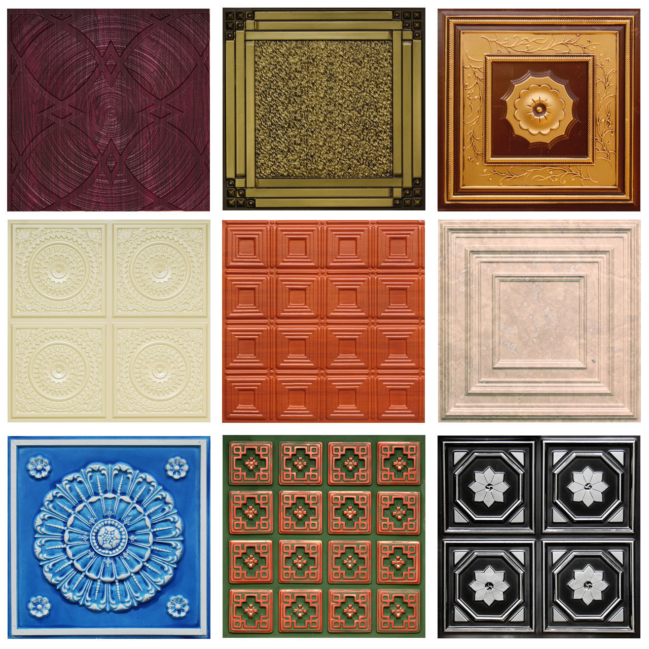 Sample Pack of 3 Full Faux Tin Tiles of Your Choice - Made to Order