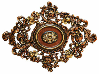 Vines Garden - FAD Hand Painted Ceiling Medallion 22 in - #CCMF-123