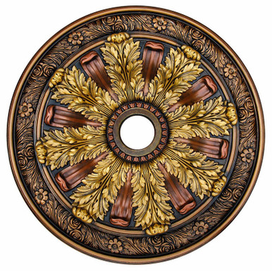 Sunshine Illusion - FAD Hand Painted Ceiling Medallion 30 in - #CCMF-036