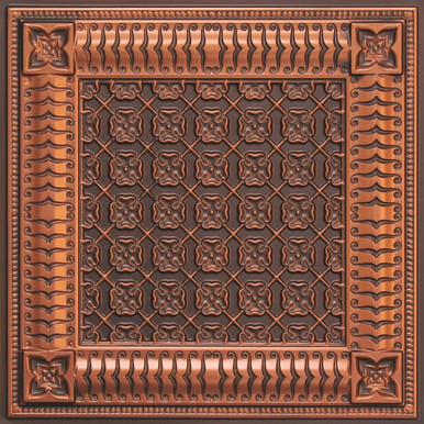 Faux Tin Ceiling Tile - 24 in x 24 in - #256
