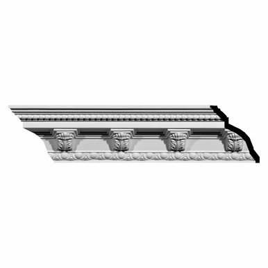 Attica Acanthus Leaf - Urethane Crown Moulding - 94-1/2 in x 5-1/4 in x 7-1/2 in