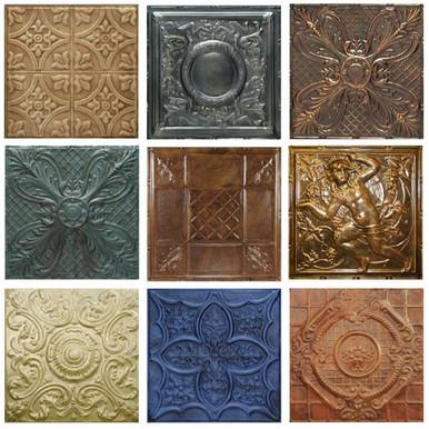 Tin Tiles Custom 5 Pack of Artisan Finishes