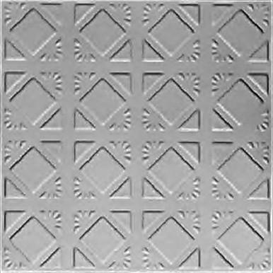 "Abstract Diamondback - Tin Ceiling Tile - 24""x24"" - #0675"