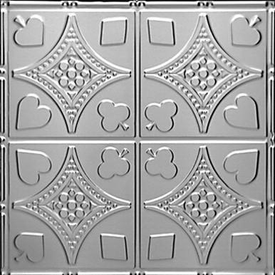 "High Stakes - Tin Ceiling Tile - 24""x24"" - #1215"