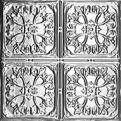 """Nom De Plume - Tin Ceiling Tile - 24""""x24"""" - #1210"""