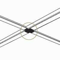 4 Way Intersection Peel & Stick Cover