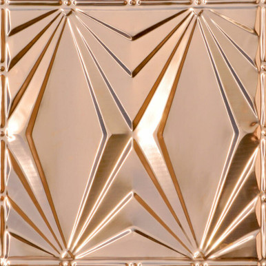 Art Deco Triangles - Copper Ceiling Tile - #2403