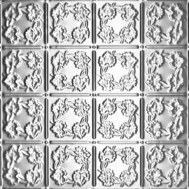"Autumn Leaves  -Tin Ceiling Tile - 24""x24"" - #0608"