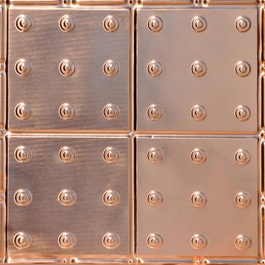 Manhattan - Copper Ceiling Tile - 24 in x 24 in - #1276
