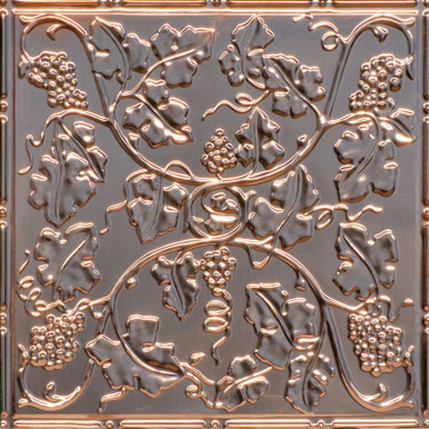 Wine Country - Copper Ceiling Tile - 24 in x 24 in - #2485