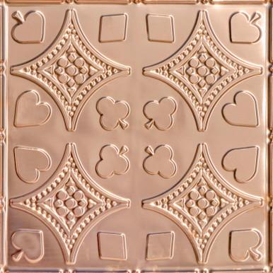 Euchre - Copper Ceiling Tile - 24 in x 24 in - #2415