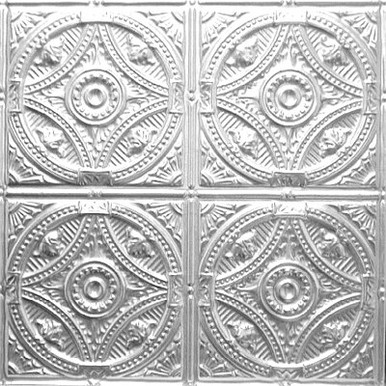 "Fountains at Versailles - Tin Ceiling Tile - 24""x24 - #1225"