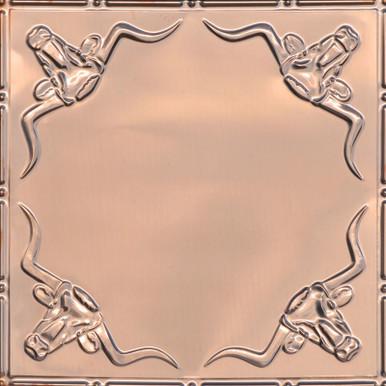 Longhorn - Copper Ceiling Tile - 24 in x 24 in -  #2426