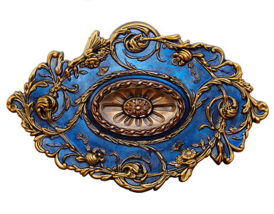 Blue Diamond - FAD Hand Painted Ceiling Medallion 20 in - #CCMF-094