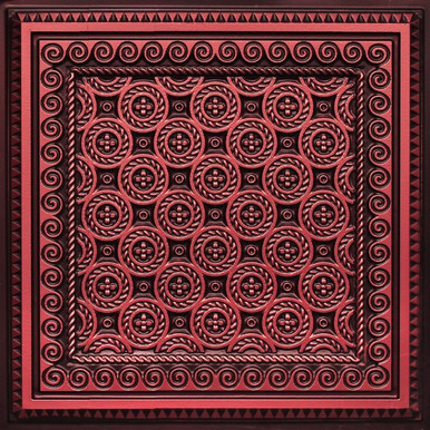 Faux Tin Ceiling Tile - 24 in x 24 in - #243