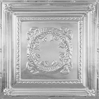 "Bowed Wreath - Tin Ceiling Tile - 24""x24"" - #2434"