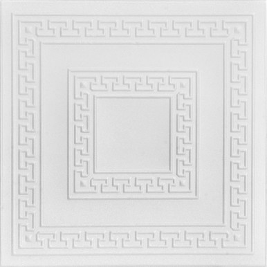 Greek Key Glue-up Styrofoam Ceiling Tile 20 in x 20 in - #R 21