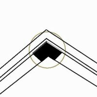 Corner Grid Peel & Stick Cover
