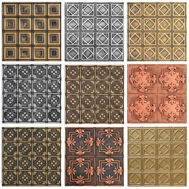 3 Hand Painted Styrene Tiles Sample Pack