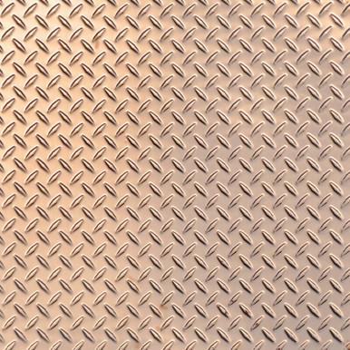 Diamond Plate - Copper Ceiling Tile - 24 in x 24 in - #2474
