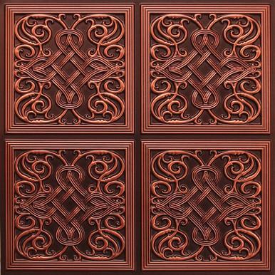 Kismet - Faux Tin Ceiling Tile - 24 in x 24 in - #245