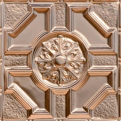Baroque - Copper Ceiling Tile - 24 in x 24 in - #2408