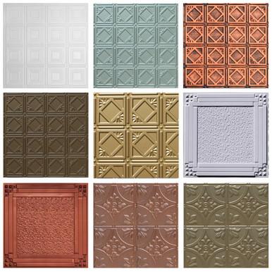3 Faux Tin Panels Samples
