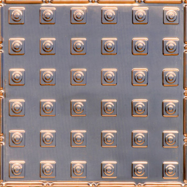 Herald's Squares - Copper Ceiling Tile - 24 in x 24 in - #2479