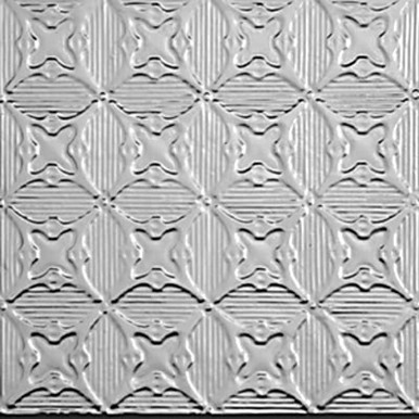 "Optical Illusions - Tin Ceiling Tile - 24""x24"" - #0614"