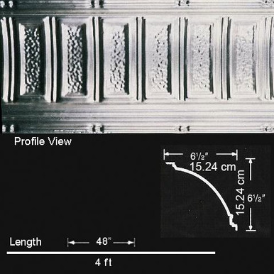 Stately Pillars - Aluminum Cornice - Nail up - #EC0600