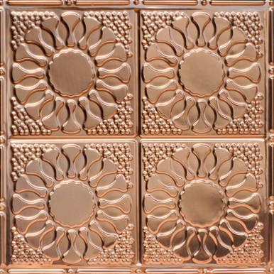 Kaleidoscope - Copper Ceiling Tile - 24 in x 24 in - #1214