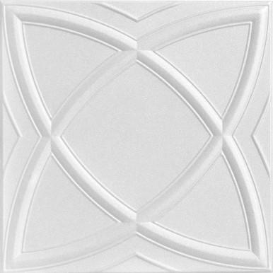 Elliptical Illusion Glue-up Styrofoam Ceiling Tile 20 in x 20 in - #R 13