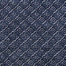 WC 20 Black Faux Tin Backsplash Roll comes in 3 sizes and 11 colors. The pattern size is 1 and a 1/4 of an inch.