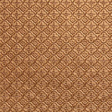 WC 20 Gold Faux Tin Backsplash Roll comes in 3 sizes and 11 colors. The pattern size is 1 and a 1/4 of an inch.