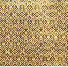 WC 20 Antique Brass Faux Tin Backsplash Roll comes in 3 sizes and 11 colors. The pattern size is 1 and a 1/4 of an inch.
