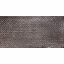 WC 20 Antique Silver Faux Tin Backsplash Roll comes in 3 sizes and 11 colors. The pattern size is 1 and a 1/4 of an inch.