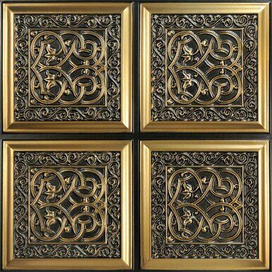 Lover's Knot - Faux Tin Ceiling Tile - Glue up - 24 in x 24 in - #231